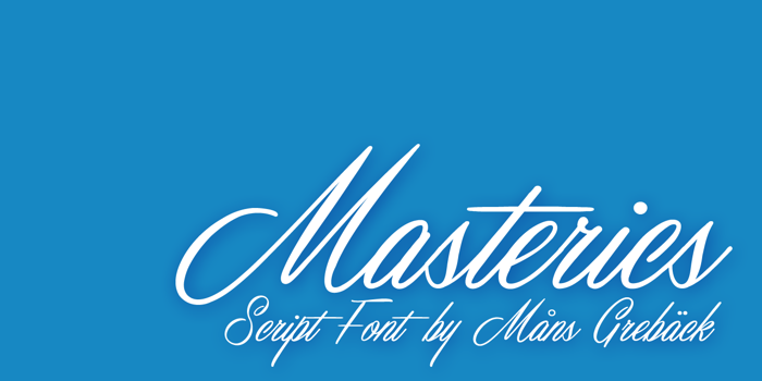 Masterics Font poster