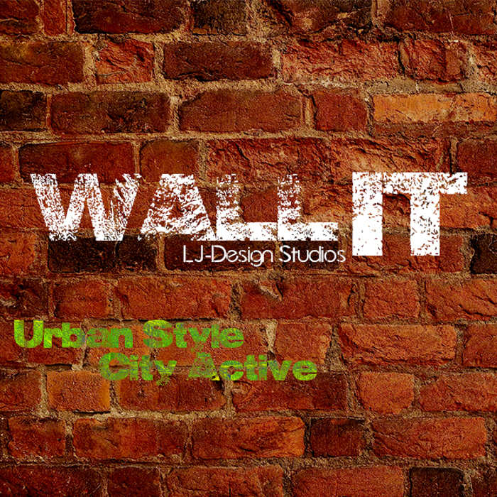 Wall IT - LJ-Design Studios Font poster