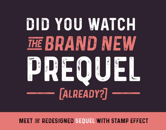 Prequel Font poster