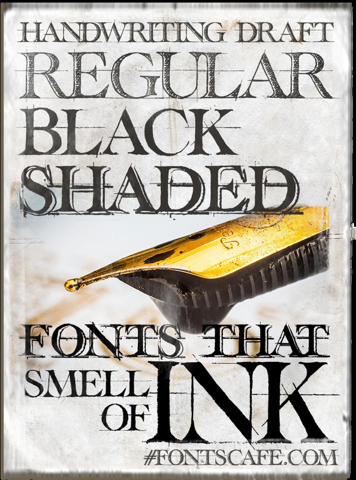 Handwriting Draft Shaded Font poster