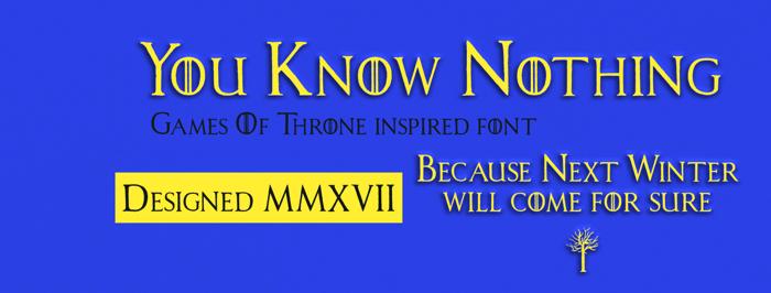 House Lannister Font poster