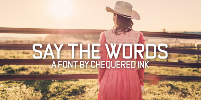 Say the Words Font poster