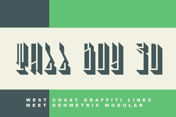 Tall Boy 3D Font poster