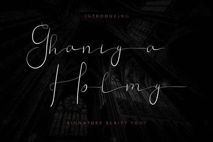 Ghaniya Holmy Font poster