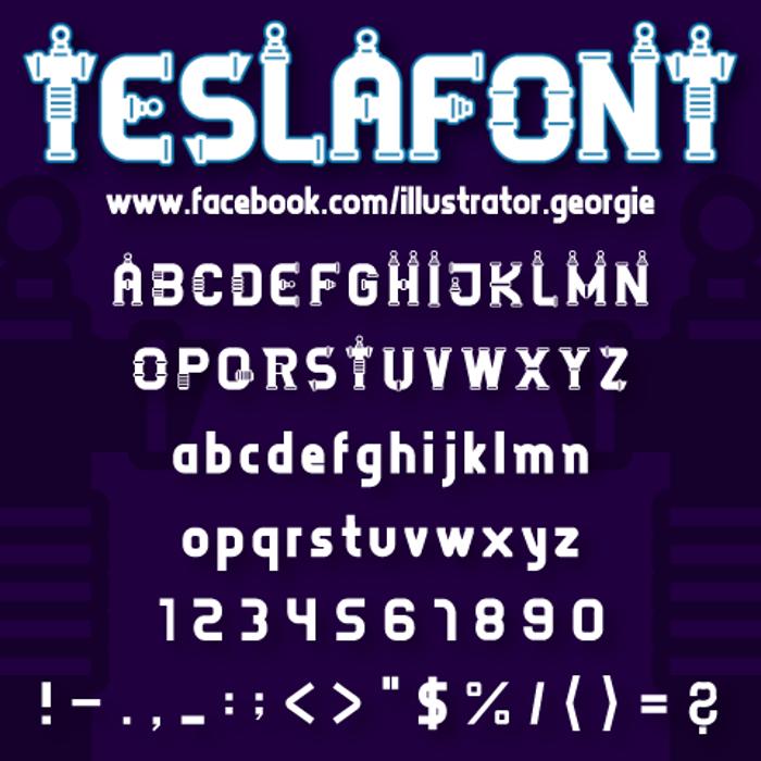 TESLAFONT Font poster