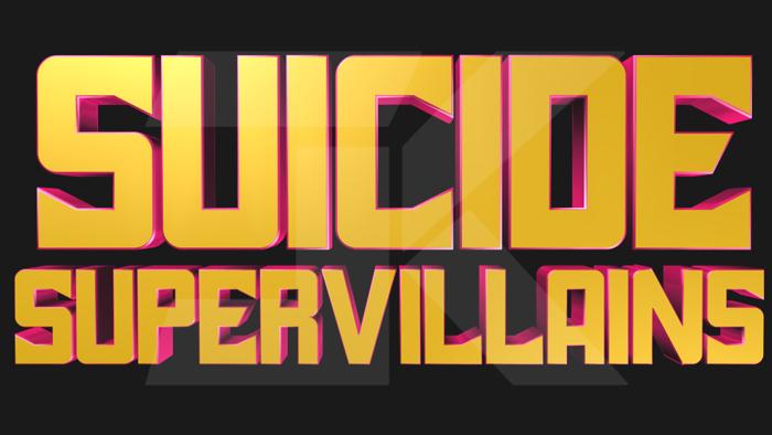 Suicide SuperVillains Font poster