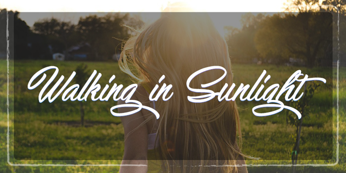 Walking in Sunlight  Font poster