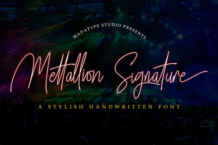 Mettallion Signature Font poster