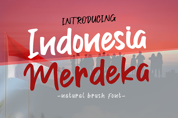 Indonesia Merdeka Font poster
