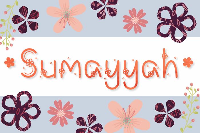 Sumayyah Font poster
