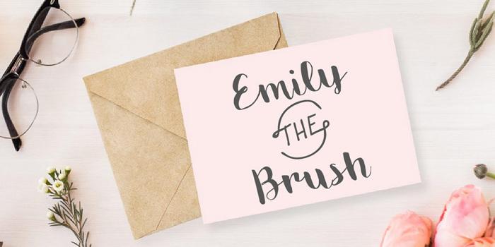 Emily The Brush Demo Font poster