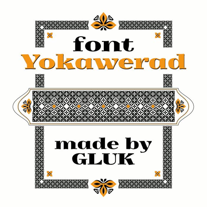 Yokawerad Font poster
