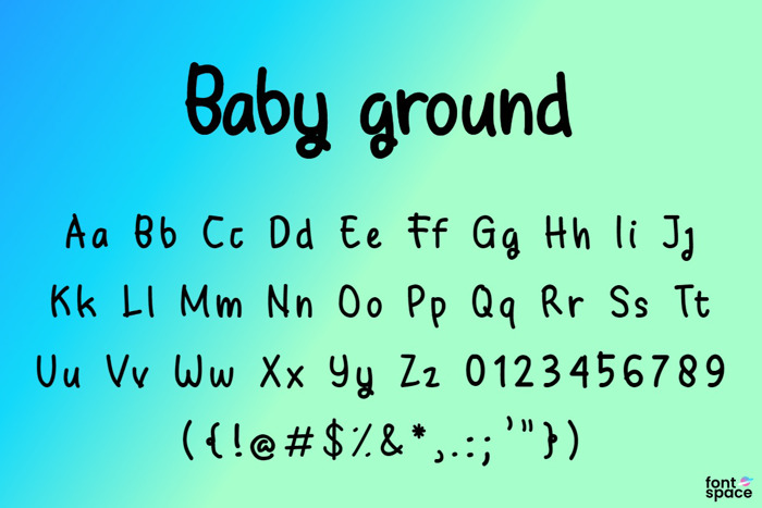 Baby Ground Font poster