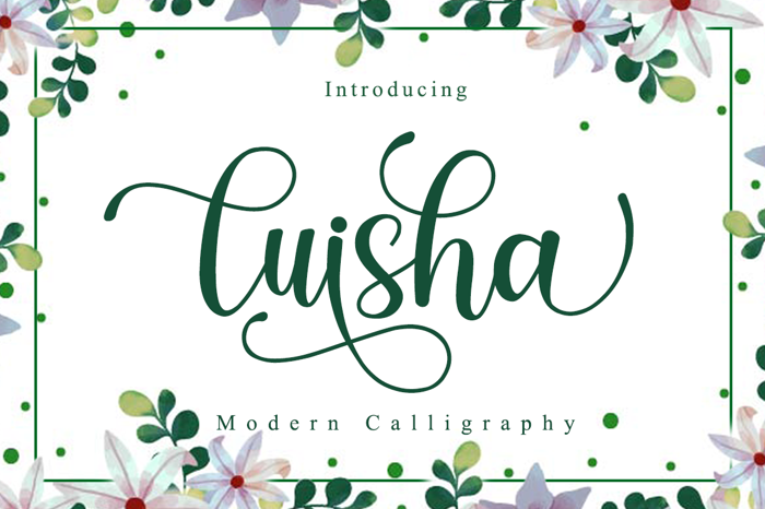 luisha Font poster