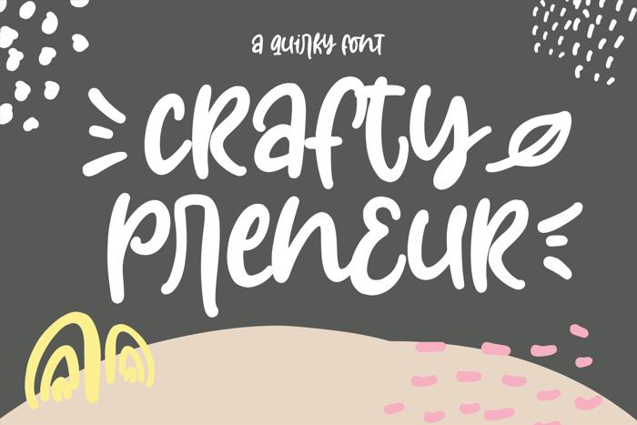 Craftypreneur Font poster