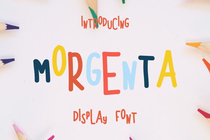 MORGENTA Font poster