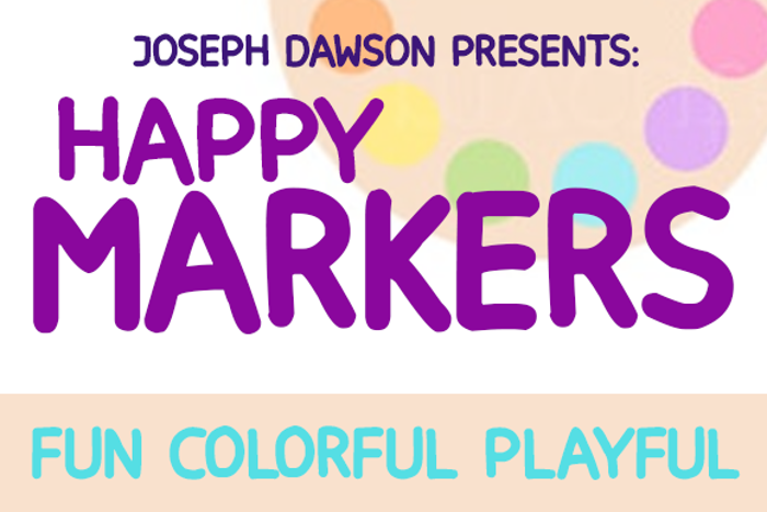 Happy markers poster