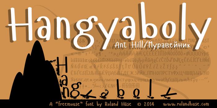 Hangyaboly Font poster