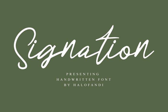 Signation Font poster