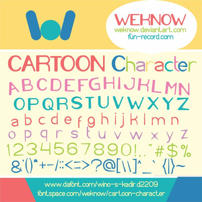 Cartoon Character Font poster