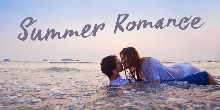 DK Summer Romance Font poster