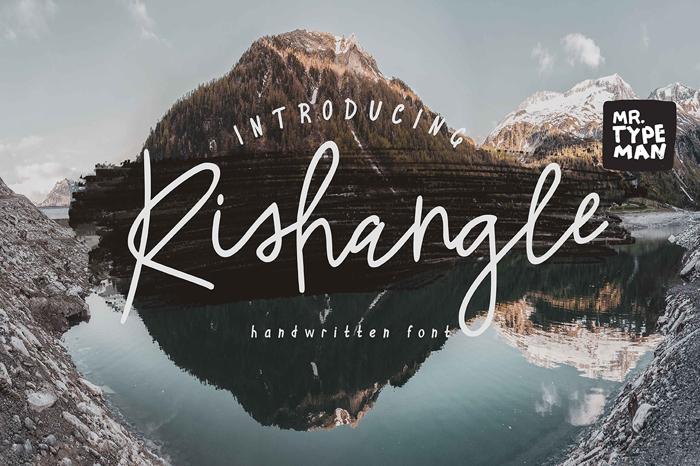 Rishangle Font poster