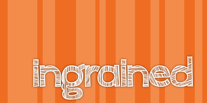 ingrained Font poster