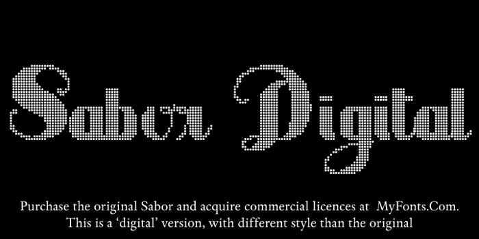 Sabor Digital Font poster