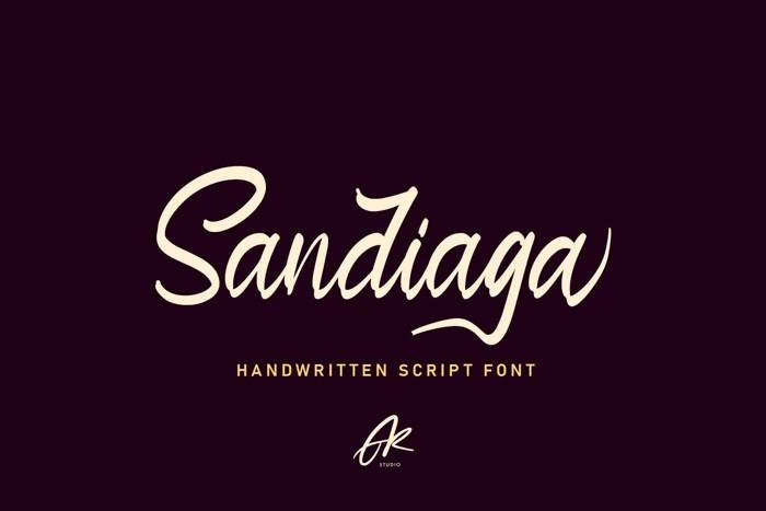 Sandiaga Font poster
