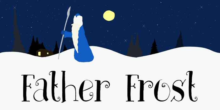 DK Father Frost Font poster