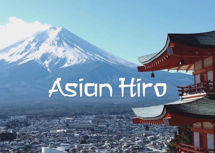 a Asian Hiro Font poster