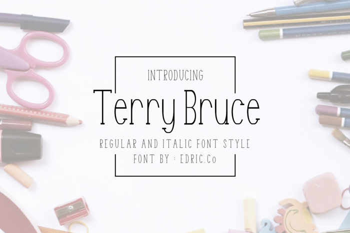 Terry Bruce Font poster