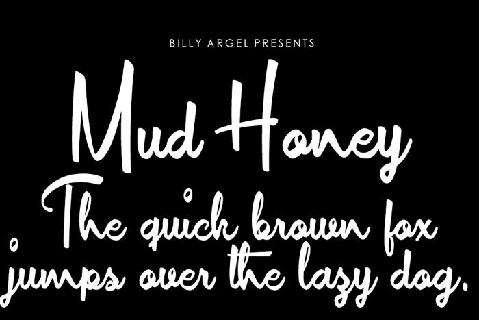 Mud Honey Font poster