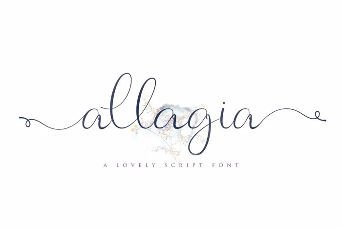 Allagia Font poster