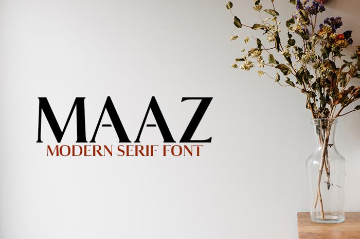 Maaz Bold Font poster