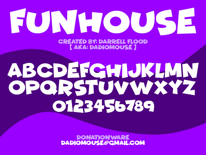 Funhouse Font poster