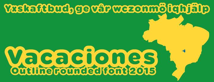 Vacaciones Font poster