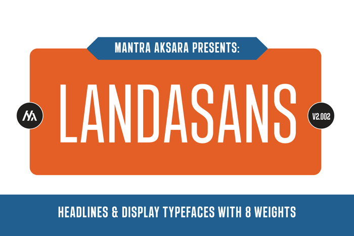 Landasans Font poster