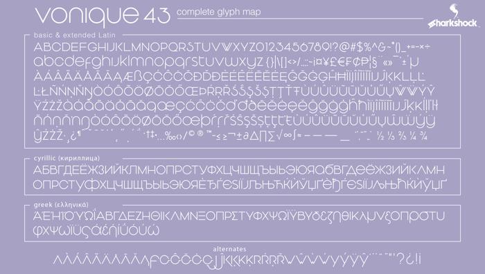 Vonique 43 Font poster