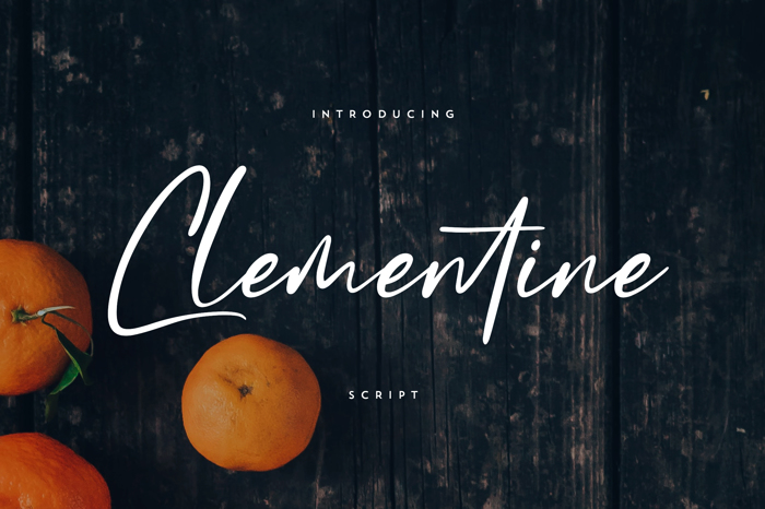 Clementine Font poster