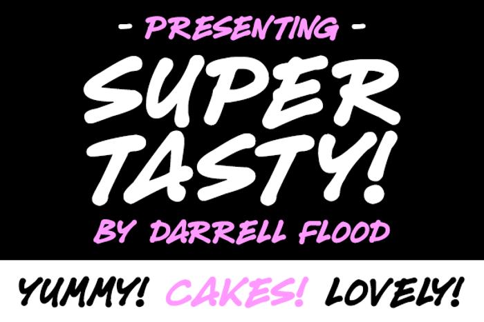 Super Tasty Font poster