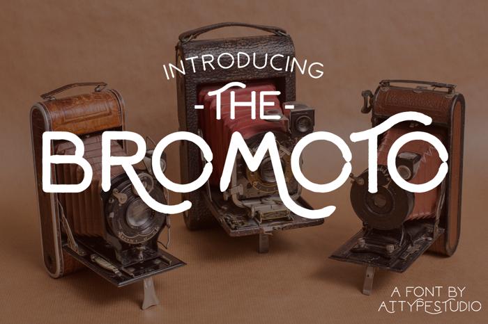 Bromoto Font poster