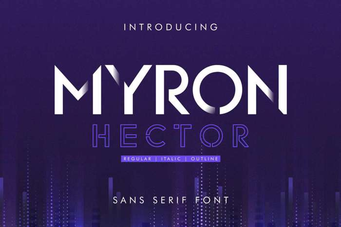 Myron Hector Font poster