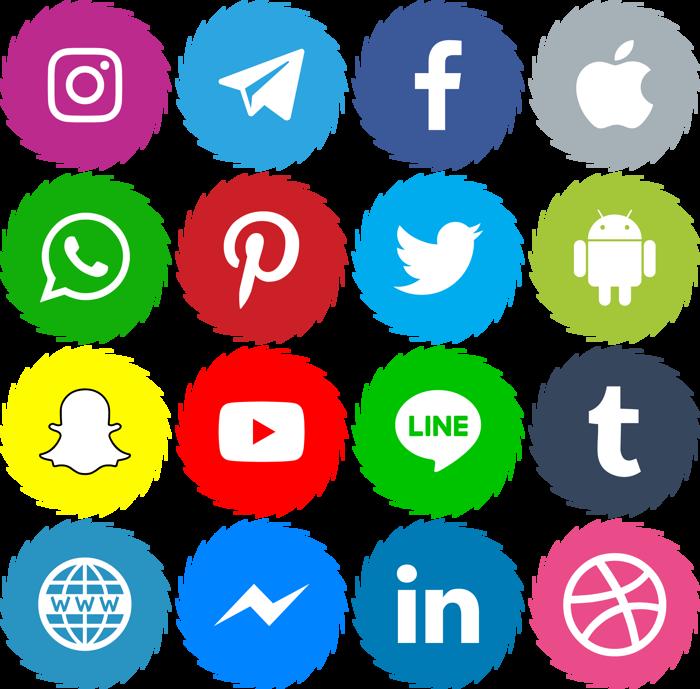 Icons Social Media 15 Font poster
