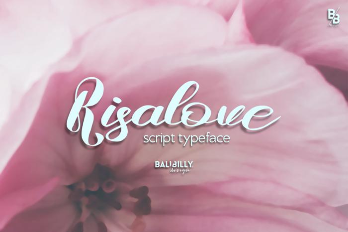 Risalove Font poster