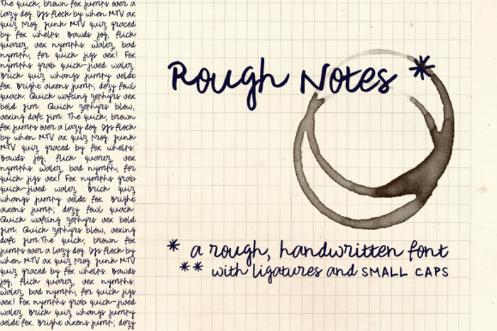 Rough Notes Sample Font poster