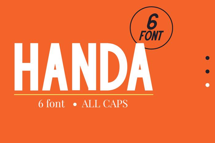 HANDA Font poster