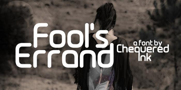 Fool's Errand Font poster