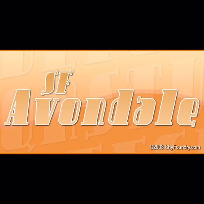 SF Avondale Font poster