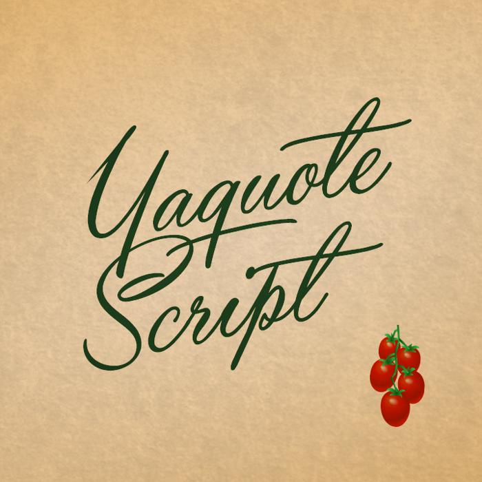 Yaquote Script Font